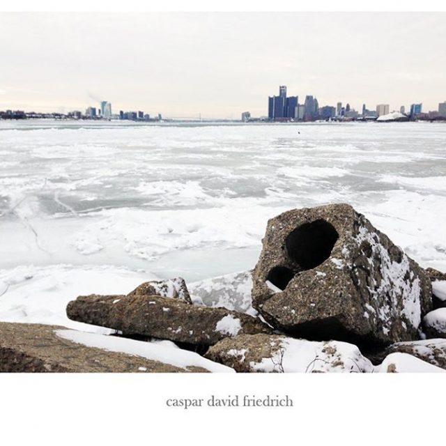 caspardavidfriedrich detroit brutalism winter romantic winterlandschaft eismeer beton coast hamburgerkunsthallehellip
