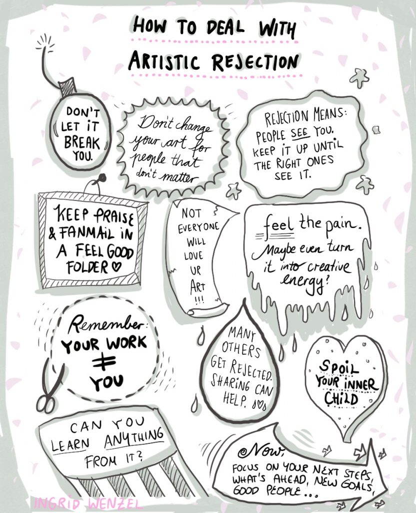 how to deal with artistic rejection